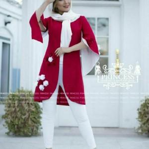 مانتو بهاره مدل شکوفه-تصویر 3