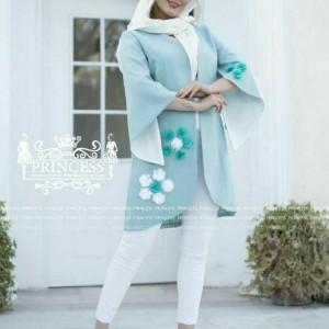 مانتو بهاره مدل شکوفه-تصویر 4