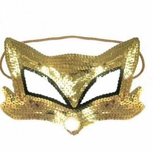 لوازم مهمانی نقاب چشم گربه طلایی