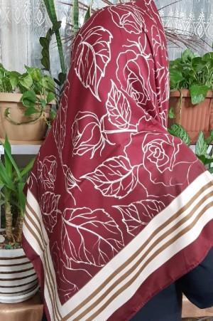 روسری ساتن اعلا طرح گل دار