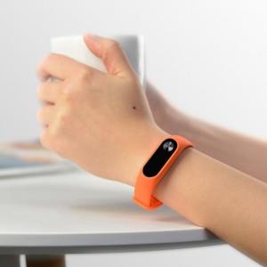 بند سیلیکونی نارنجی دستبند شیائومی مدل Mi Band 2-تصویر 2