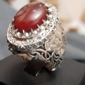 انگشتر نقره عقیق سلطنتی 2-تصویر 3