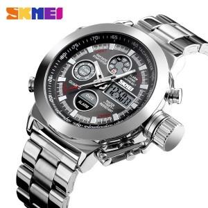 ساعت اسکمی skmei دوزمانه اورجینال مدل 1515 سیلور