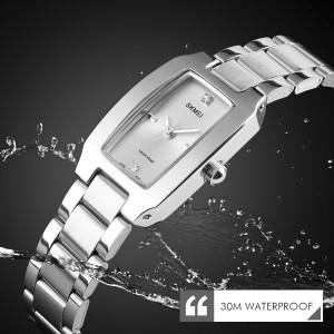 ساعت اسکمی skmei زنانه استیل اورجینال نقره ای مدل 1400-تصویر 4