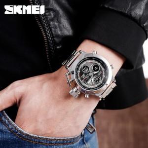 ساعت اسکمی skmei دوزمانه اورجینال مدل 1515 سیلور-تصویر 3