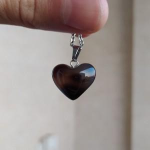 گردنبند عقیق دودی طرح قلب-تصویر 5