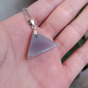 گردنبند عقیق نباتی طرح مثلث-تصویر 4