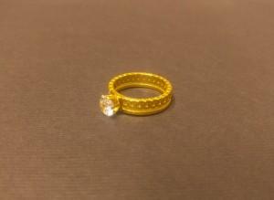 انگشتر نگین الماسی - a20-تصویر 4