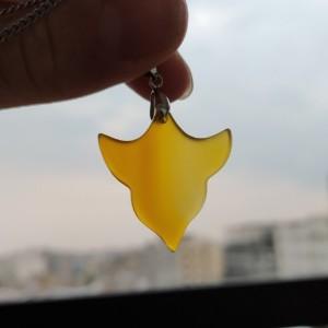 گردنبند عقیق زرد طرح ترنج-تصویر 2