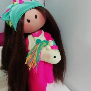 عروسک روسی مدل تک شاخ سایز بزرگ
