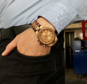 ساعت مچی چوبی مردانه-تصویر 3