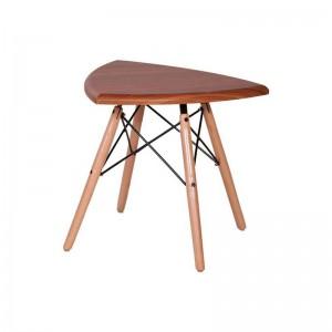 میز عسلی مثلث با پایه ایفلی چوبی استیل هامون