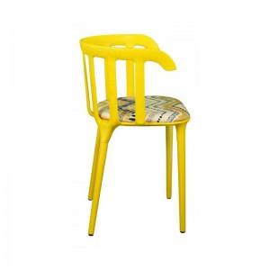 صندلی رستورانی تمام پلاستیک مدل وینسور استیل هامون-تصویر 2