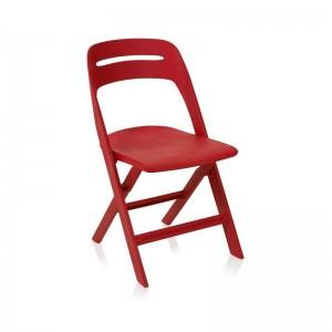 صندلی رستورانی پلاستیکی تاشو مدل ماکان استیل هامون