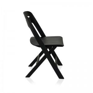 صندلی رستورانی پلاستیکی تاشو مدل ماکان استیل هامون-تصویر 2