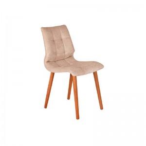 صندلی رستورانی پایه چوبی ساده مدل رونی استیل هامون