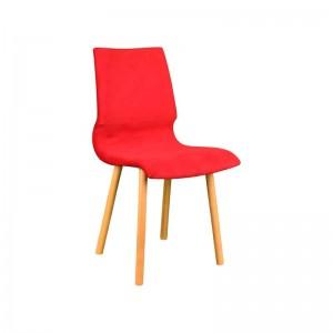 صندلی رستورانی پایه چوبی ساده مدل رونی استیل هامون-تصویر 3