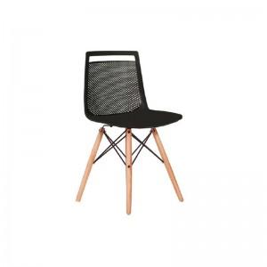 صندلی رستورانی پایه ایفلی چوبی مدل آکامی استیل هامون
