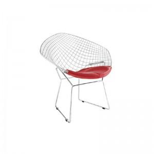 صندلی رستورانی توری فلزی کروم مدل مونیکا استیل هامون