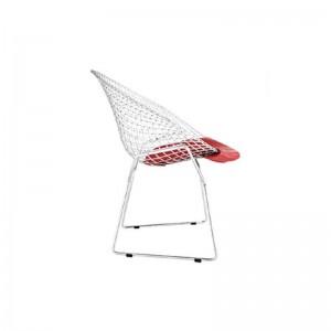 صندلی رستورانی توری فلزی کروم مدل مونیکا استیل هامون-تصویر 2