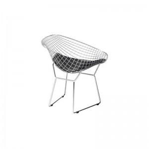 صندلی رستورانی توری فلزی کروم مدل مونیکا استیل هامون-تصویر 3