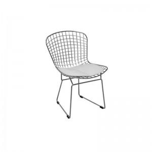 صندلی رستورانی توری فلزی کروم مدل پارمیدا استیل هامون
