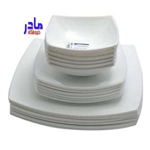 سرویس غذاخوری 26 پارچه لومینارک مدل کوادراتو-تصویر 2