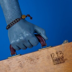 دستبند چرم ریسه گالری سنگ حدید و لاوا-تصویر 4