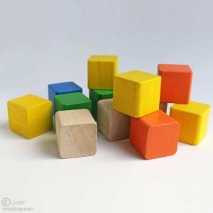 آجرک نونهالان | مکعب چوبی رنگارنگ