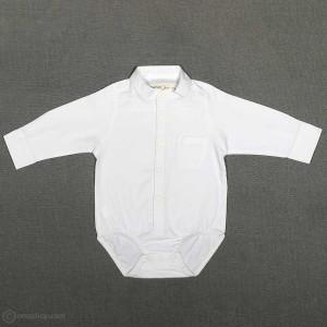 پیراهن زیردکمه پسرانه یقه ایستاده شیری