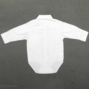 پیراهن زیردکمه پسرانه یقه ایستاده شیری-تصویر 2