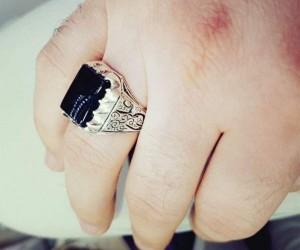 انگشتر نقره مردانه مدل p220-تصویر 4