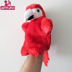 عروسک نمایشی طوطی قرمز-تصویر 3