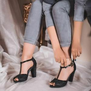 کفش پاشنه دار بند مچی
