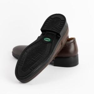 کفش مجلسی تمام چرم گاوی مردانه مدل t24-تصویر 3
