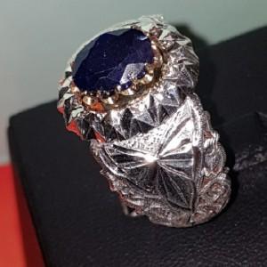 انگشتر نقره یاقوت کبود-تصویر 2