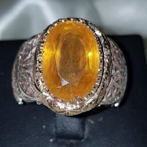 انگشتر نقره یاقوت زرد-تصویر 2