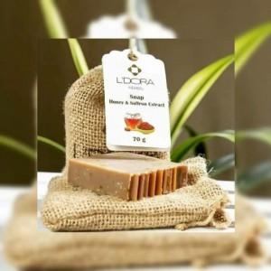 صابون یا پن گیاهی عسل و زعفران لدورا-تصویر 2