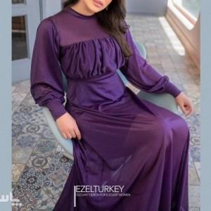 پیراهن شب زنانه حریر لعبا مدل آتریسا اکلیلی-تصویر 5