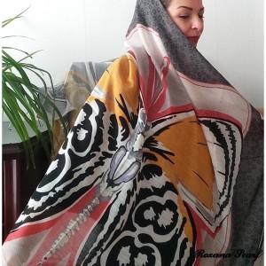 روسری نخی طرح پروانه-تصویر 4