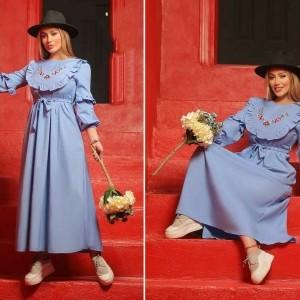 پیراهن زنانه کتان مدل ماکسی بهار-تصویر 2