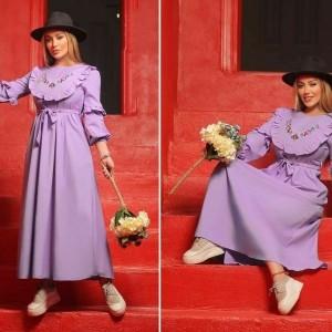 پیراهن زنانه کتان مدل ماکسی بهار-تصویر 3