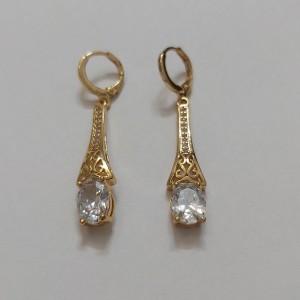 گوشواره زنانه مدل فانتزی طرح الماس کد ng110-تصویر 3