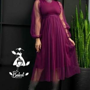 پیراهن شب زنانه کرپ لعبا مدل نیکناز-تصویر 2