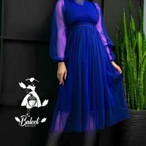 پیراهن شب زنانه کرپ لعبا مدل نیکناز-تصویر 3