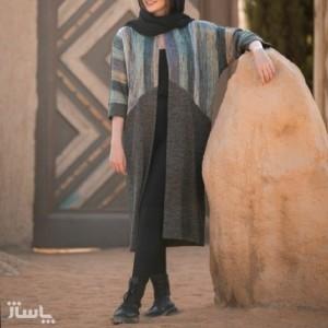 مانتو زنانه توییت مدل عبایی-تصویر 5