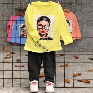 بلوز شلوار دختر عینک ساعتی-تصویر 2