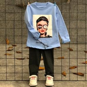 بلوز شلوار دختر عینک ساعتی-تصویر 3