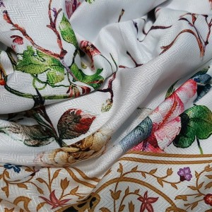 روسری نخ ابریشم گارزا ارکیده 122-18-تصویر 3