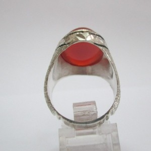 انگشتر نقره آینه کاری زیبا-تصویر 3